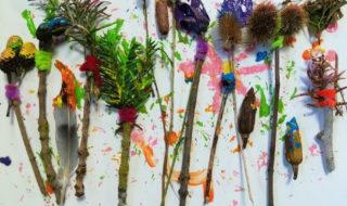 fabrication pinceau avec éléments naturels