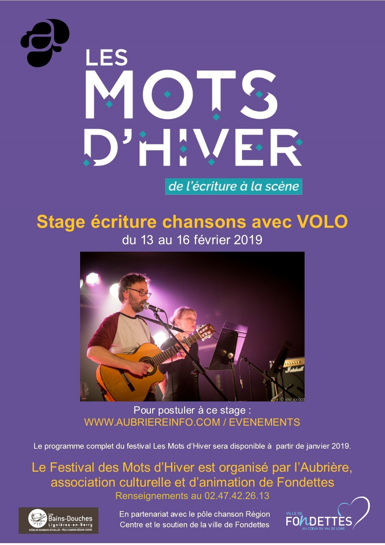 affche appel candidature stage Volo